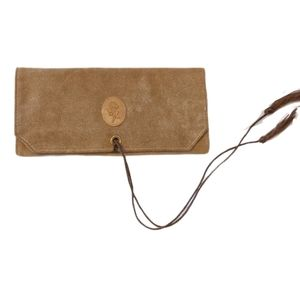 Rolf's 50s-60s Suede Leather Travel Jewelry Pouch